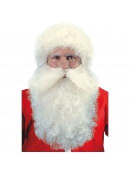Perruque et barbe Père Noël naturel