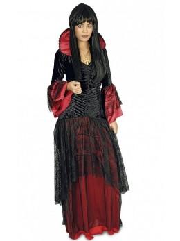 Déguisement Vampiresse noire et rouge