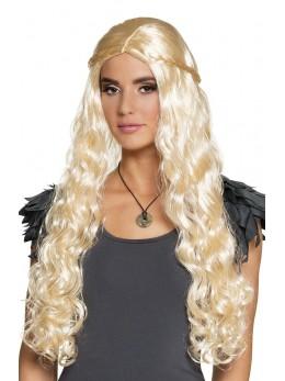 Perruque médiévale blonde deluxe