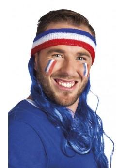 Bandeau supporter France avec cheveux