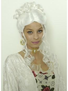 Perruque Marquise blanche Sanssouci