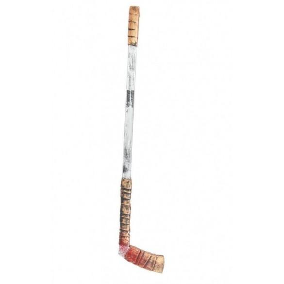 Crosse de hockey plastique ensanglantée