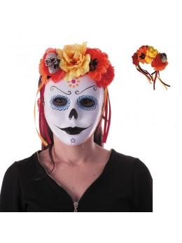 Serre tête muerte rouge et orange