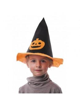 Chapeau enfant citrouille feutrine