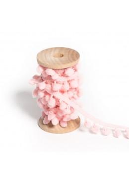 Ruban de pompons rose
