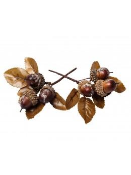 Branche d'automne orangée paillettes cuivré