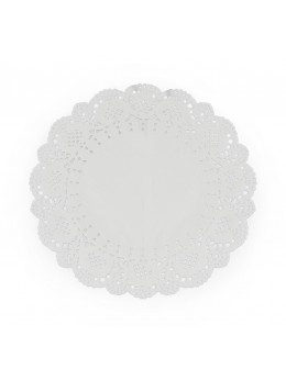 6 Napperons dentelle blanc 21,5cm