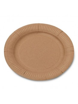 50 Assiettes kraft biodégradable 23 cm