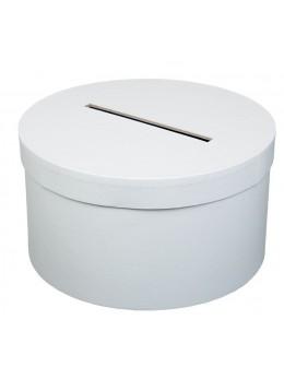 Urne ronde carton blanche