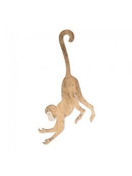 Déco singe bois or à suspendre