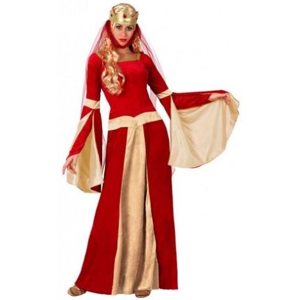 Déguisement dame médiévale rouge