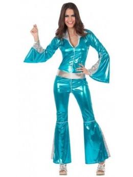 Déguisement femme disco turquoise