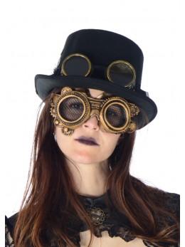 Masque lunettes latex Steampunk