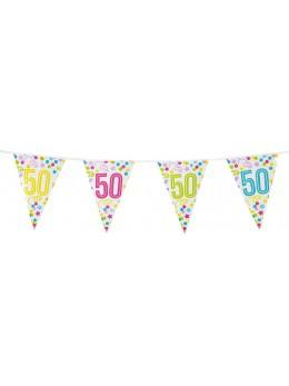 Guirlande 50 ans confetti et étoiles