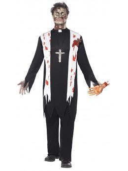 Déguisement curé zombie