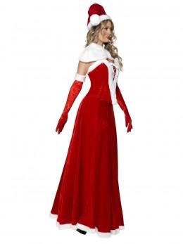 Costume Miss santa velours longue