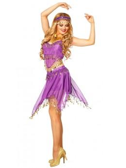 Set déguisement danseuse orientale violette
