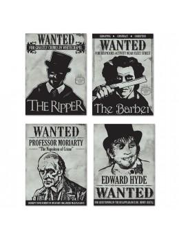 4 Wanted sign Sherlock Holmes