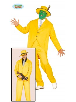 Déguisement costume gangster jaune
