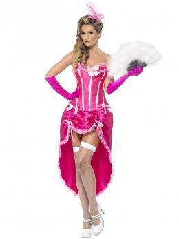 Déguisement danseuse burlesque Rose