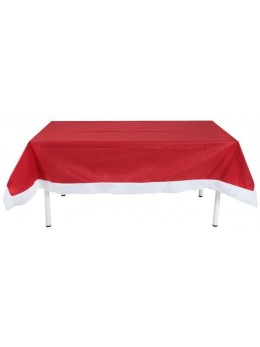 Nappe rectangulaire Noël rouge