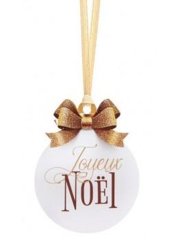 12 Marque-place Boule de Noël ruban