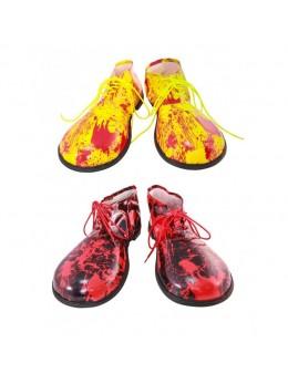 Chaussures de clown adulte ensanglantées