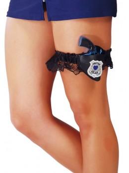Jarretière police avec pistolet