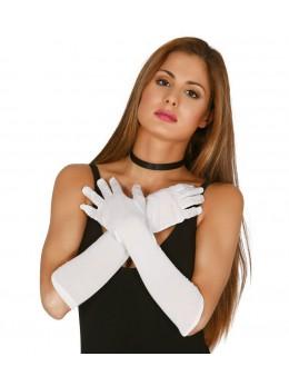 Gants longs blanc 45cm