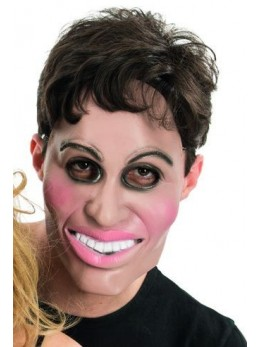 Masque latex 1/2 visage homme
