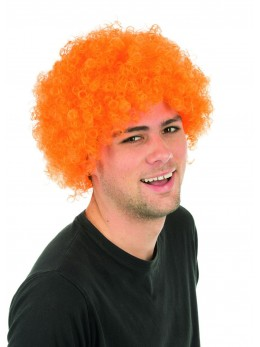 Perruque clown orange