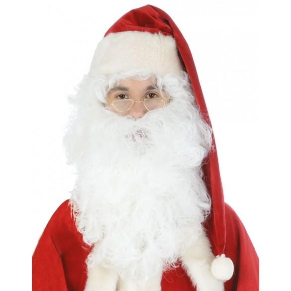 Barbe Père Noël blanche