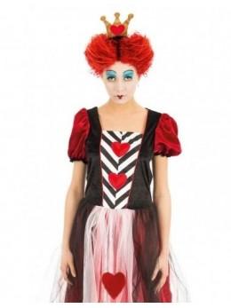 Perruque reine de coeur rousse