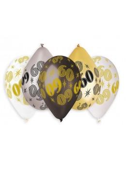 10 ballons 60 ans métallisés