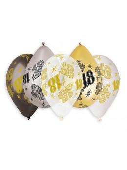 10 ballons 18 ans métallisés