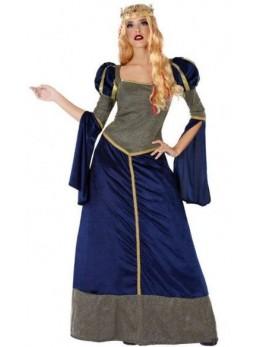 Déguisement femme médiévale bleue