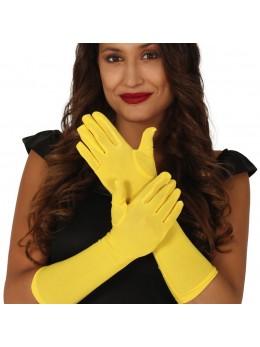 Gants fluo longs jaune