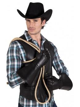 Gants western faux cuir