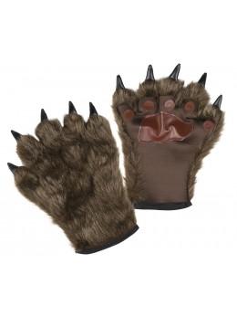 Mitaines fourrure loup garou