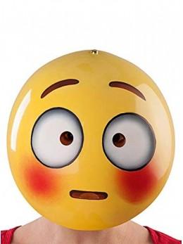 Masque emoticone timide adulte