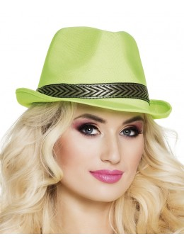 Chapeau Tony polyester vert
