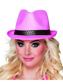 Chapeau Tony polyester rose pink