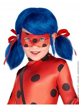 perruque pour fille est sous licence officielle Ladybug™