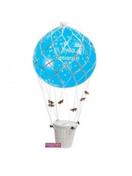 Ballon montgolfière anniversaire deluxe