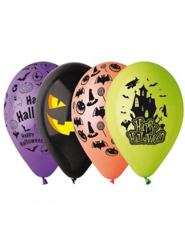 50 Ballons Halloween assortis