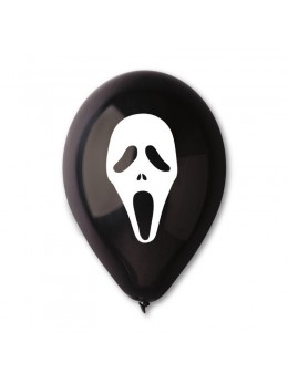 10 Ballons Halloween scream noir