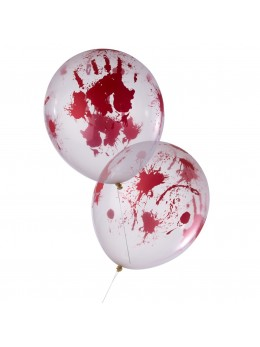 8 Ballons blanc ensanglantés