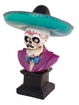 Buste squelette mexicain