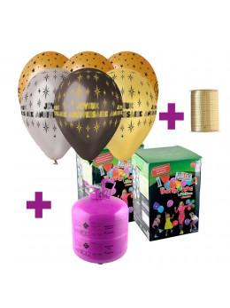 Kit Hélium  anniversaire métallisé