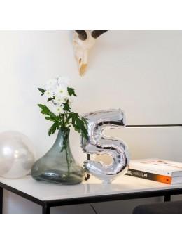 Ballon Chiffre 5 argent 36 cm